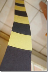 yellow and black diy truffula tree trunk