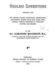Cover of Alexander Macgregor's Book Highland Superstitions Connected With The Druids Fairies Witchcraft