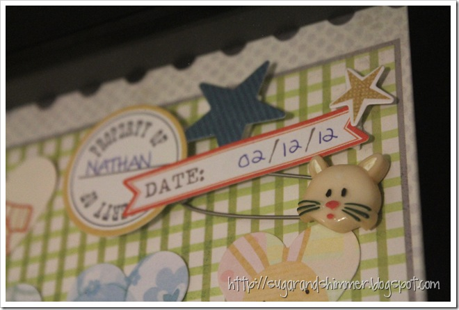 Baby Card Shadowbox - Cluster