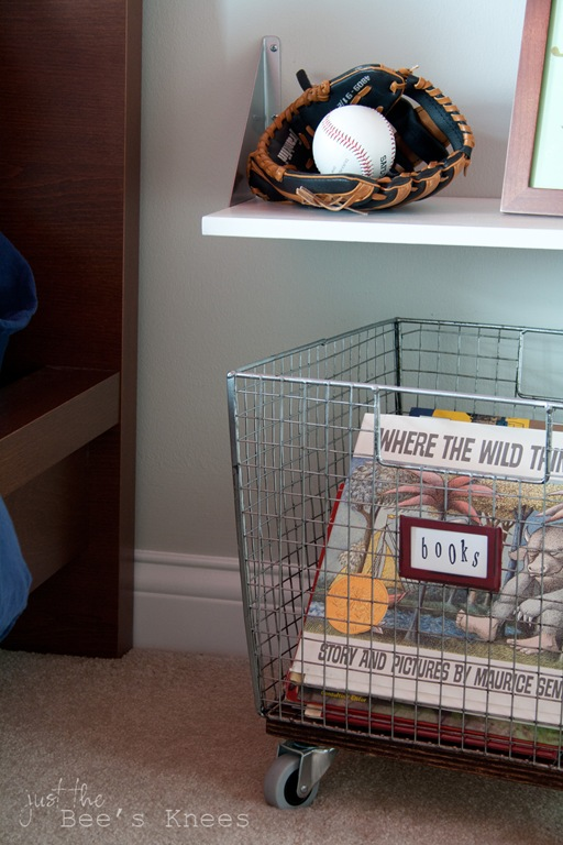 DIY wire basket with castors from Just The Bee's Knees