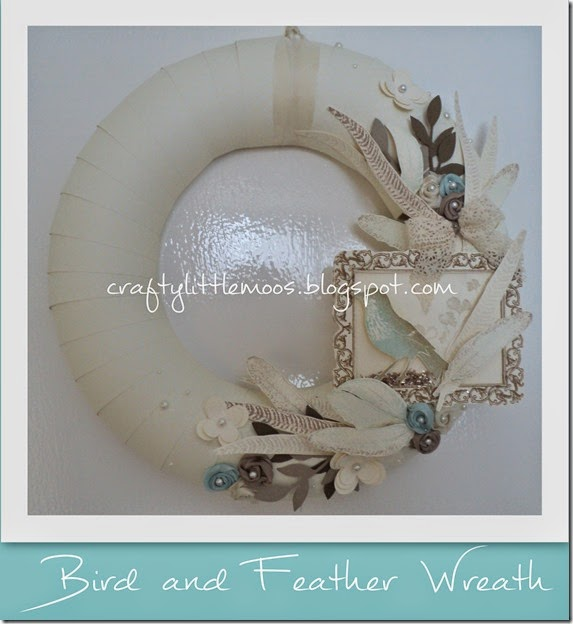 bird and feather wreath