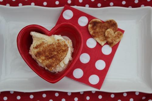 Valentine sundae, cinnamon sugar tortillas