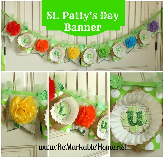 LUCKY ST. Patrick's Day Rainbow Banner @ ReMarkableHome.net