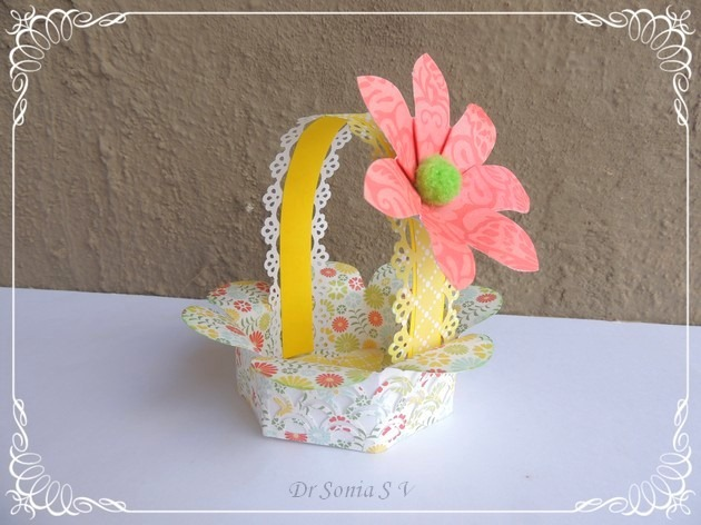 Handmade Basket Paper : Cards crafts kids projects handmade paper basket tutorial