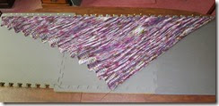 Bella Shawl - Blocking