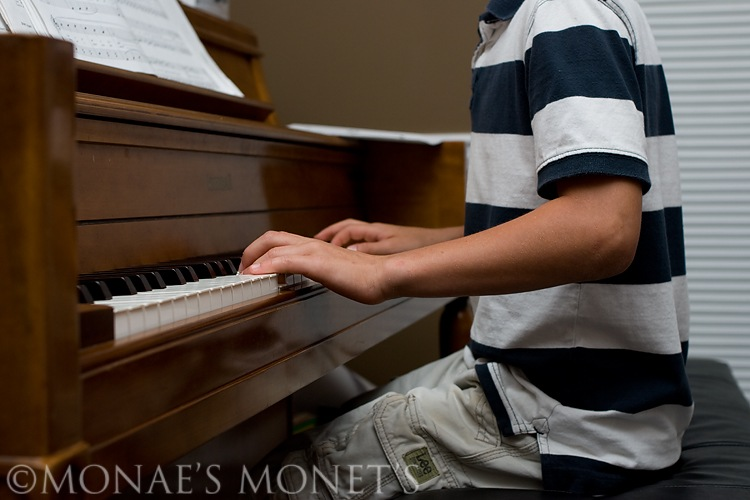 Austin playing piano blog