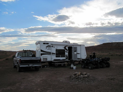 Our camp all set up on Thursday evening