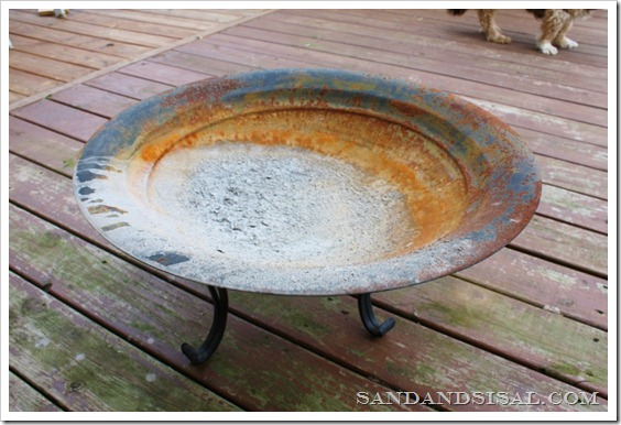 Rusted Firepit Before