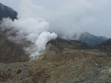 Papandayan active crater - note the burnt trees on the right (Daniel Quinn, October 2012)