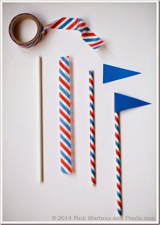 DIY Pennant Flag Cupcake Toppers