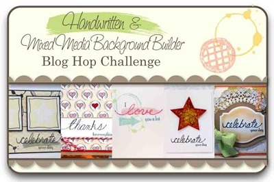 Handwritten and MM Bacground Builders Blog Hop Challenge
