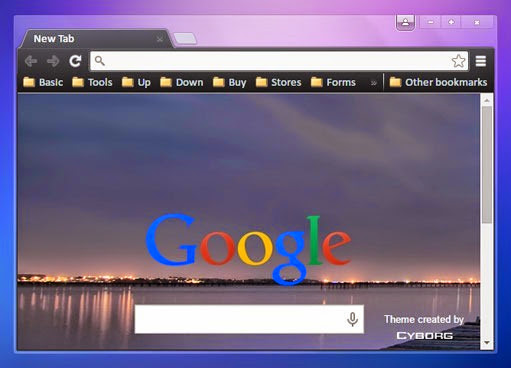 french lake cyborg google chrome theme