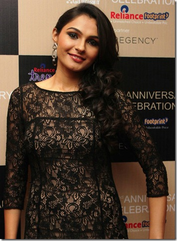 Actress Andrea Jeremiah Latest Hot Images in Mini Black Skirt