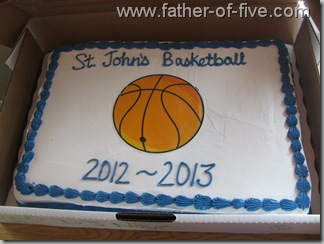 Basektball Banquent Cake #2