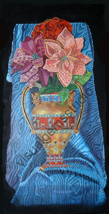 Floral Egyptian Urn