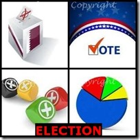 ELECTION- 4 Pics 1 Word Answers 3 Letters