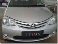 Toyota Etios Sedan Front