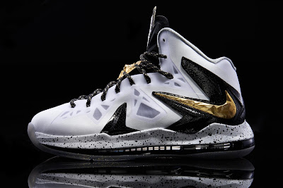 nike lebron 10 ps white gold black 2 03 Another Look at Nike LeBron X P.S. Elite+ in White, Gold and Black