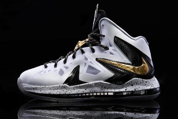 Another Look at Nike LeBron X PS Elite in White Gold and Black
