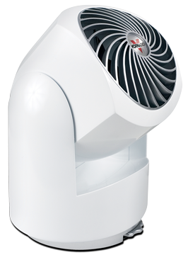 This powerful model moves air up to 40 feet. And it's clean white color will make it discreet addition to any room. 