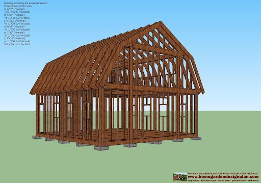 7x6 free garden shed plans