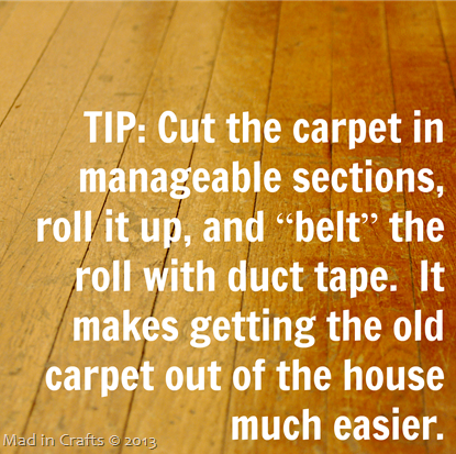 Carpet Removal Tip