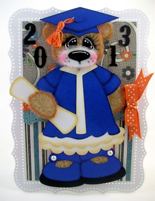 Bear Blue Graduation Card