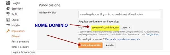 dominio personalizzato