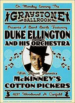 Duke Ellington orchestra e McKinney's Cotton Pickers poster
