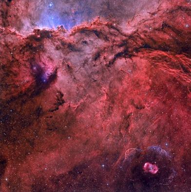 nebulosas NGC 6188 e NGC 6164