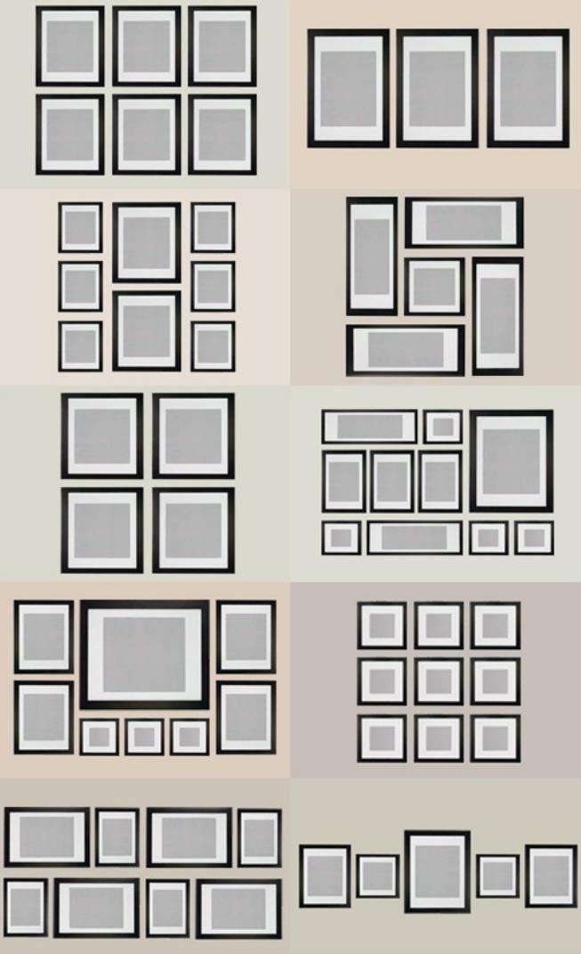 Rh interiorismo diferentes opciones para colocar cuadros - Como colocar cuadros en un salon ...
