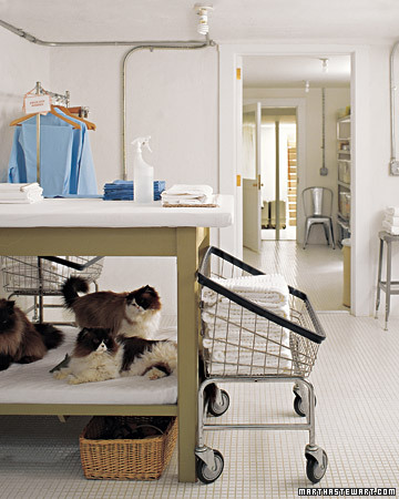 Look at Martha's cats favorite hiding spot. (Martha Stewart Living)