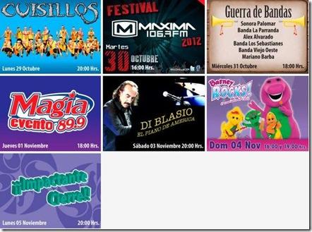 conciertos en fiestas de octubre 2012 en gdl cartelera de eventos en foro principal