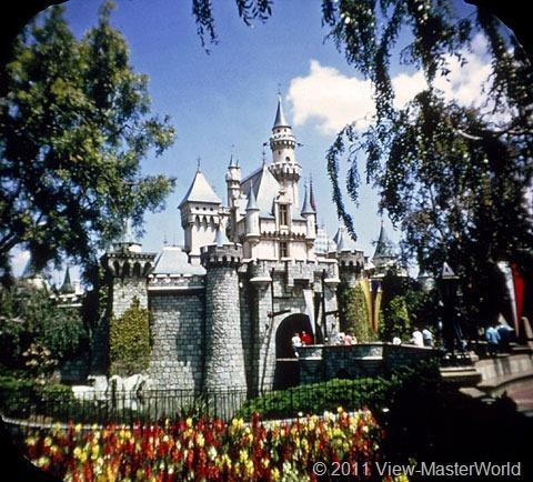 View-Master Fantasyland (A178), Scene 1-1: Sleeping Beauty Castle at entrance to Fantasyland