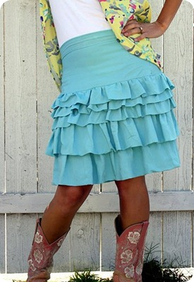 ruffle skirt tutorial