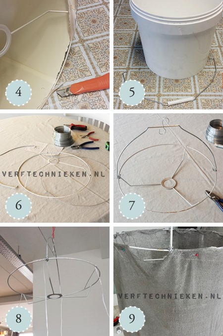 verftechnieken.nl - DIY lamp stappen 4 tm 9