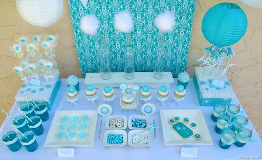 ideas creativas para una fiesta infantil Centros de Mesa de FROZEN
