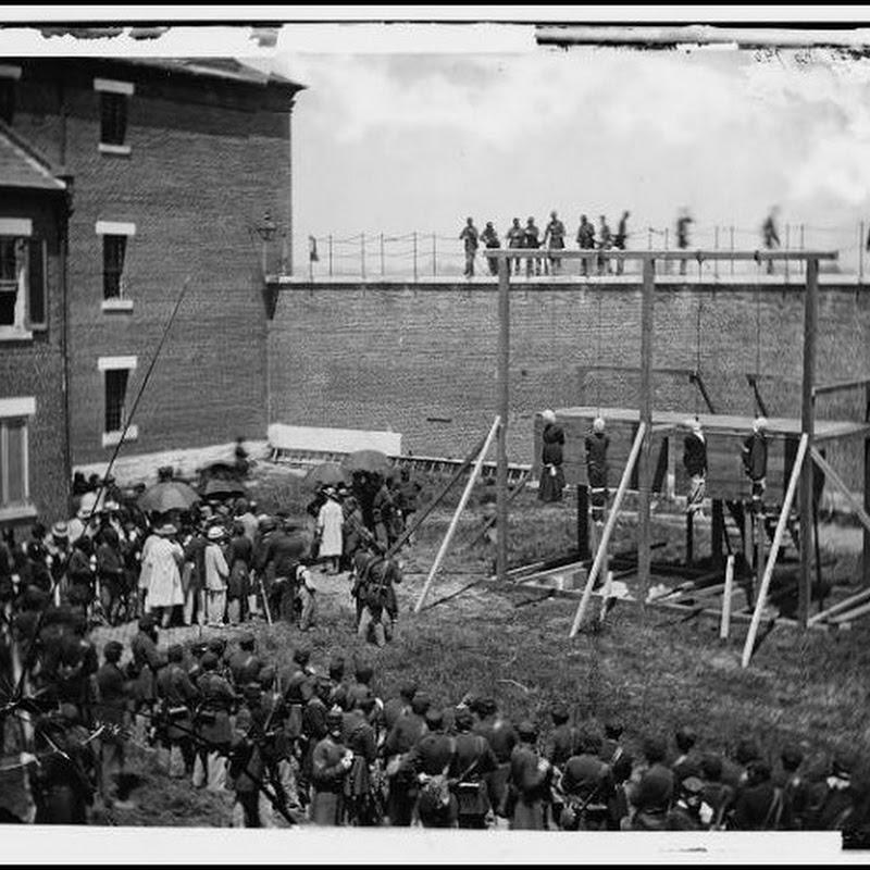 O enforcamento dos conspiradores da morte de Abraham Lincoln