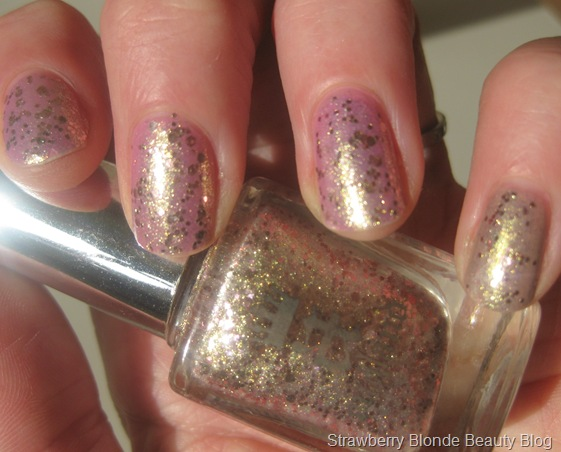 A-England-She-Walks-in-Beauty-Rose-Gold-Pink-Glitter-swatch