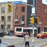 bus crashing in wall in Toronto, Ontario, Canada