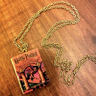 Harry Potter Book Locket by Junk Studio