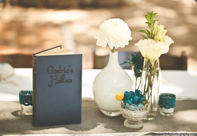 painted flowers Oak Canyon Natue Center Wedding - Kym Ventola- Pixies Petals (27)