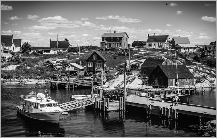 Fishing Village-0355BW