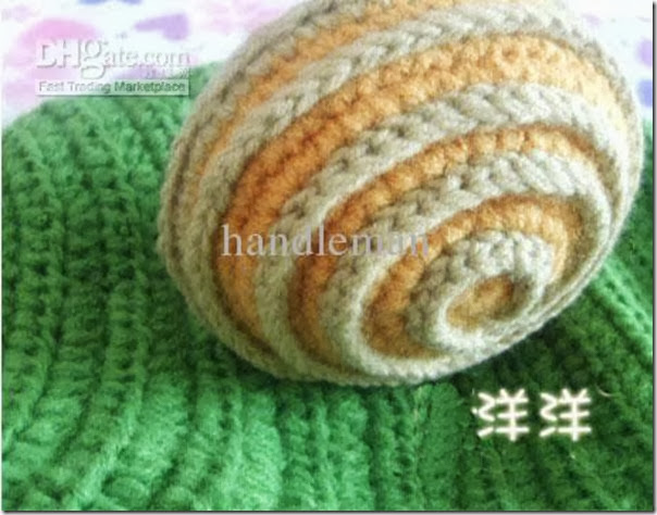 baby photography props manual baby knitting wool cap snail modelling hat (1)