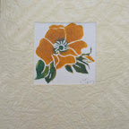 Rose et papier japonais