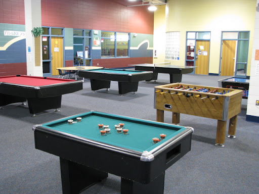 The inner foyer of this Boys & Girls Club looks pretty inviting!
