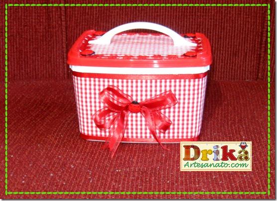 Potes de sorvete decorados Vermelhol Blog Drika Artesanato