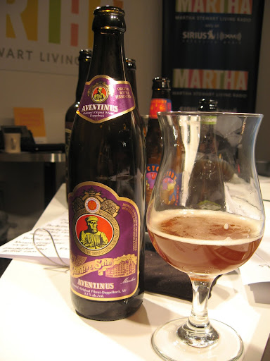Bavarian brewery G. Schneider & Sohn has been making a dark wheat doppelbock called Aventinus since 1907. It has aromas of banana, clove, plum, raisin, and a sweetness that makes it a good partner for anything hot.