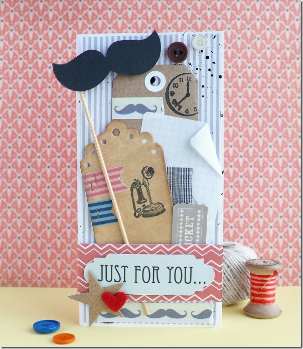 cafe creativo - AnnaDrai - Sizzix - Masculine card - Father's Day - mustache (1)