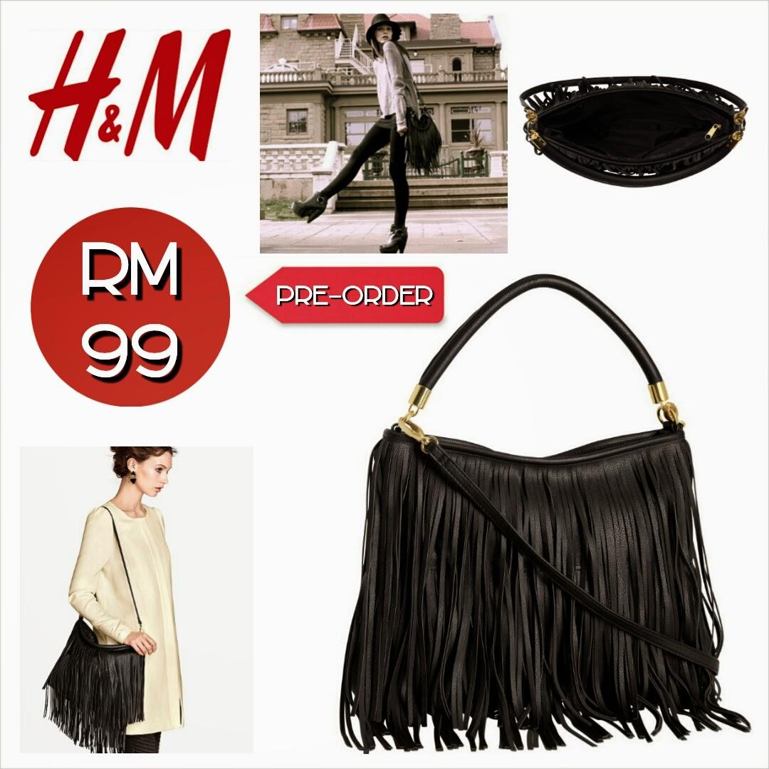 H&m Fringe Bag Black